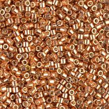 Miyuki 10/0 Medium Delicas, SKU 195016.DBM10-1836, duracoat galvanized muscat(1 10gram tube, apprx 1000 beads)