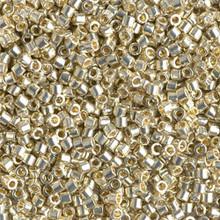 Miyuki 10/0 Medium Delicas, SKU 195016.DBM10-1831, duracoat galvanized silver(1 10gram tube, apprx 1000 beads)