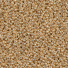Japanese Miyuki Seed Beads, size 15/0, SKU 189015.MY15-1052, galvanized dark yellow gold, (1 12-13gram tube - apprx 3500 beads)