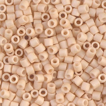 Miyuki Delica Beads, Large, size 8/0, SKU 195008.DBL8-0353, Matte Opaque Antique Beige, (1 10gr tube; apprx 330 beads)