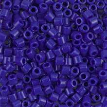 Miyuki Delica Beads, Large, size 8/0, SKU 195008.DBL8-0726, Opaque Cobalt, (1 10gr tube; apprx 330 beads)