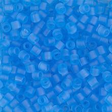 Miyuki Delica Beads, Large, size 8/0, SKU 195008.DBL8-0747, Matte Transparent Aqua, (1 10gr tube; apprx 330 beads)