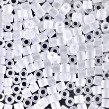 Miyuki Delica Beads, Large, size 8/0, SKU 195008.DBL8-0741, Matte Crystal, (1 10gr tube; apprx 330 beads)