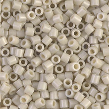 Miyuki Delica Beads, Large, size 8/0, SKU 195008.DBL8-0261, Opaque Linen Luster, (1 10gr tube; apprx 330 beads)