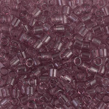 Miyuki Delica Beads, Large, size 8/0, SKU 195008.DBL8-0711, Transparent Smoky Amethyst, (1 10gr tube; apprx 330 beads)
