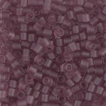 Miyuki Delica Beads, Large, size 8/0, SKU 195008.DBL8-0765, Matte Transparent Smoky Amethyst, (1 10gr tube; apprx 330 beads)