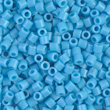 Miyuki Delica Beads, Large, size 8/0, SKU 195008.DBL8-0725, Opaque Turquoise Blue, (1 10gr tube; apprx 330 beads)