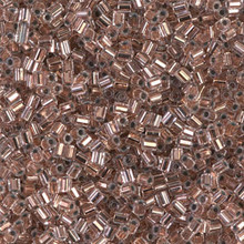 "Japanese Miyuki Seed Beads, size 11/0, SKU 111030.MY11-0197cut, copper lined crystal cut, (10 grams, 3"" tube, apprx 1100 beads)"