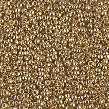 "Japanese Miyuki Seed Beads, size 11/0, SKU 111030.MY11-0193, 24KT Gold Light Plated, (5 grams, 3"" tube, apprx 550 beads)"