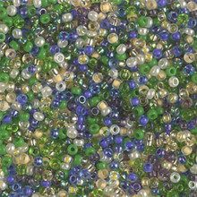 Japanese Miyuki Seed Beads, size 11/0, SKU 111030.MY11-MIX45, wild iris mix, (1 28-30 gram tube, apprx 3080 beads)