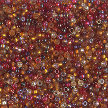 Japanese Miyuki Seed Beads, size 11/0, SKU 111030.MY11-MIX46, cranberry harvest mix, (1 28-30 gram tube, apprx 3080 beads)