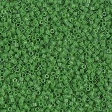 Miyuki 15/0 Small Delicas, SKU 195015.DBS15-0724, opaque green, (1 10gram tube, apprx 2900 beads)