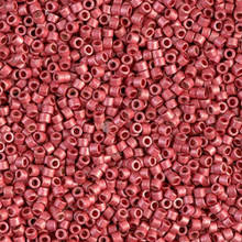 Delica Beads (Miyuki), size 11/0 (same as 12/0), SKU 195006.DB11-1841F, duracoat galvanized matte light cranberry, (10gram tube, apprx 1900 beads)