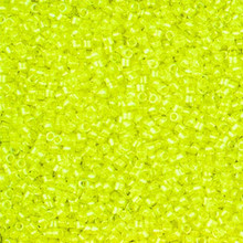 Delica Beads (Miyuki), size 11/0 (same as 12/0), SKU 195006.DB11-2031, luminous lime aid,  (10gram tube, apprx 1900 beads)