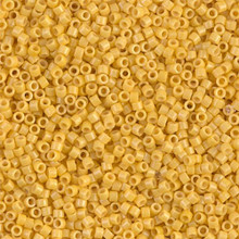 Delica Beads (Miyuki), size 11/0 (same as 12/0), SKU 195006.DB11-2102, duracoat opaque banana, (10gram tube, apprx 1900 beads)