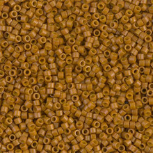 Delica Beads (Miyuki), size 11/0 (same as 12/0), SKU 195006.DB11-2110, duracoat opaque toast, (10gram tube, apprx 1900 beads)