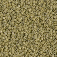 Delica Beads (Miyuki), size 11/0 (same as 12/0), SKU 195006.DB11-2124, duracoat opaque cactus, (10gram tube, apprx 1900 beads)
