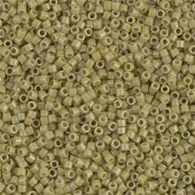 Delica Beads (Miyuki), size 11/0 (same as 12/0), SKU 195006.DB11-2124, duracoat opaque cactus, (10gram tube, apprx 1900 beads)