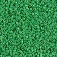 Delica Beads (Miyuki), size 11/0 (same as 12/0), SKU 195006.DB11-2126, duracoat opaque fiji green, (10gram tube, apprx 1900 beads)
