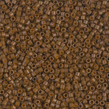 Delica Beads (Miyuki), size 11/0 (same as 12/0), SKU 195006.DB11-2142, duracoat opaque cognac, (10gram tube, apprx 1900 beads)