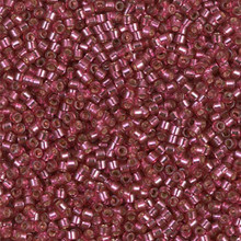 Delica Beads (Miyuki), size 11/0 (same as 12/0), SKU 195006.DB11-2161, duracoat silver lined dyed petunia, (10gram tube, apprx 1900 beads)