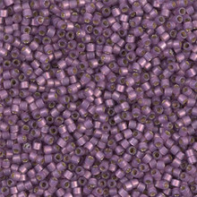 Delica Beads (Miyuki), size 11/0 (same as 12/0), SKU 195006.DB11-2182, duracoat semi frosted silver lined dyed lilac, (10gram tube, apprx 1900 beads)