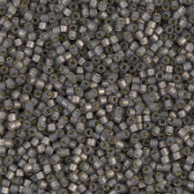 Delica Beads (Miyuki), size 11/0 (same as 12/0), SKU 195006.DB11-2185, duracoat semi frosted silver lined dyed acacia, (10gram tube, apprx 1900 beads)