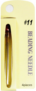 TULIP Beading Needles, Size #11 (1 pkg of 4 needles)