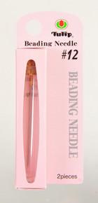 TULIP Beading Needles, Size #12 (1 pkg of 2 needles)