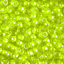 Japanese Miyuki Seed Beads, size 6/0, 1119, luminous lime aid, (1 tube, apprx 24-28 grams, apprx 315 beads per tube)