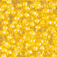 Japanese Miyuki Seed Beads, size 6/0, SKU 111031.MYK6-1121, Luminous Sun GLow, (1 tube, apprx 24-28 grams, apprx 315 beads per tube)
