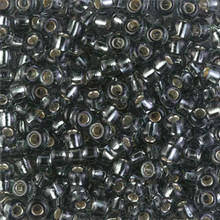 Japanese Miyuki Seed Beads, size 6/0, 0021, silverlined gray, (1 tube, apprx 24-28 grams, apprx 315 beads per tube)