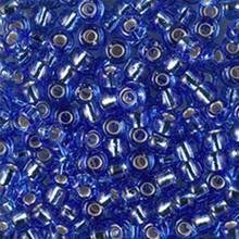 Japanese Miyuki Seed Beads, size 6/0, SKU 111031.MYK6-2431, silverlined dark cornflower blue, (1 tube, apprx 24-28 grams, apprx 315 beads per tube)
