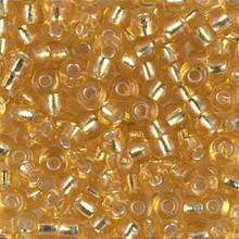 Japanese Miyuki Seed Beads, size 6/0, 0003, silverlined gold, (1 tube, apprx 24-28 grams, apprx 315 beads per tube)