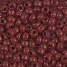 Japanese Miyuki Seed Beads, size 6/0, SKU 111031.MYK6-0419, opaque red brown, (1 tube, apprx 24-28 grams, apprx 315 beads per tube)