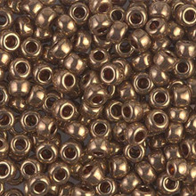 Japanese Miyuki Seed Beads, size 6/0, 0457L, metallic light bronze, (1 tube, apprx 24-28 grams, apprx 315 beads per tube)