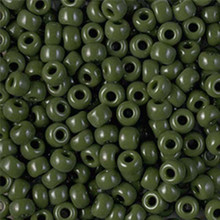 Japanese Miyuki Seed Beads, size 6/0, 0501, opaque avocado, (1 tube, apprx 24-28 grams, apprx 315 beads per tube)