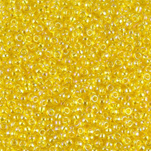 Japanese Miyuki Seed Beads, size 11/0, SKU 111030.MY11-0252, transparent yellow AB, (1 28-30 gram tube, apprx 3080 beads)