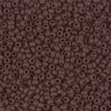 Japanese Miyuki Seed Beads, size 11/0, 0409F, matte opaque chocolate, (1 28-30 gram tube, apprx 3080 beads)