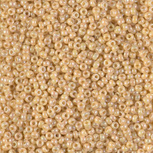 Japanese Miyuki Seed Beads, size 11/0, SKU 111030.MY11-0488, opaque pear AB, (1 28-30 gram tube, apprx 3080 beads)