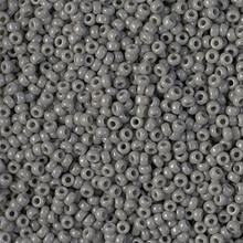 Japanese Miyuki Seed Beads, size 11/0, SKU 111030.MY11-0499, opaque falcon gray, (1 28-30 gram tube, apprx 3080 beads)