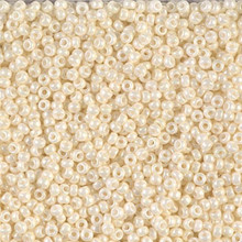 Japanese Miyuki Seed Beads, size 11/0, SKU 111030.MY11-0594, cream ceylon, (1 28-30 gram tube, apprx 3080 beads)