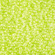 Japanese Miyuki Seed Beads, size 11/0, 1119, luminous lime aid, (1 28-30 gram tube, apprx 3080 beads)