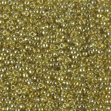 Japanese Miyuki Seed Beads, size 11/0, SKU 111030.MY11-1889, transparent golden olive luster, (1 28-30 gram tube, apprx 3080 beads)