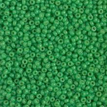 Japanese Miyuki Seed Beads, size 11/0, SKU 111030.MY11-4476, duracoat opaque fiji green, (1 28-30 gram tube, apprx 3080 beads)
