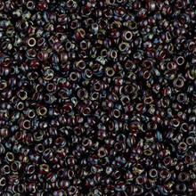 Japanese Miyuki Seed Beads, size 11/0, 4504, picasso garnet transparent, (1 28-30 gram tube, apprx 3080 beads)
