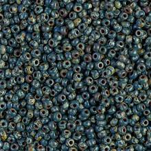 Japanese Miyuki Seed Beads, size 11/0, 4516, picasso montana matte, (1 28-30 gram tube, apprx 3080 beads)
