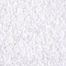 Miyuki 15/0 Small Delicas, SKU 195015.DBS15-0200, opaque white, (1 10gram tube, apprx 2900 beads)