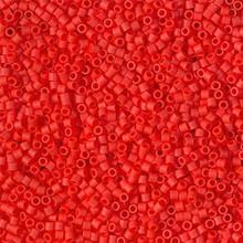Miyuki 15/0 Small Delicas, SKU 195015.DBS15-0757, matte opaque vermillion red, (1 10gram tube, apprx 2900 beads)