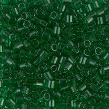 Miyuki Delica Beads, Large, size 8/0, SKU 195008.DBL8-0705, transparent green, (1 10gr tube; apprx 330 beads)